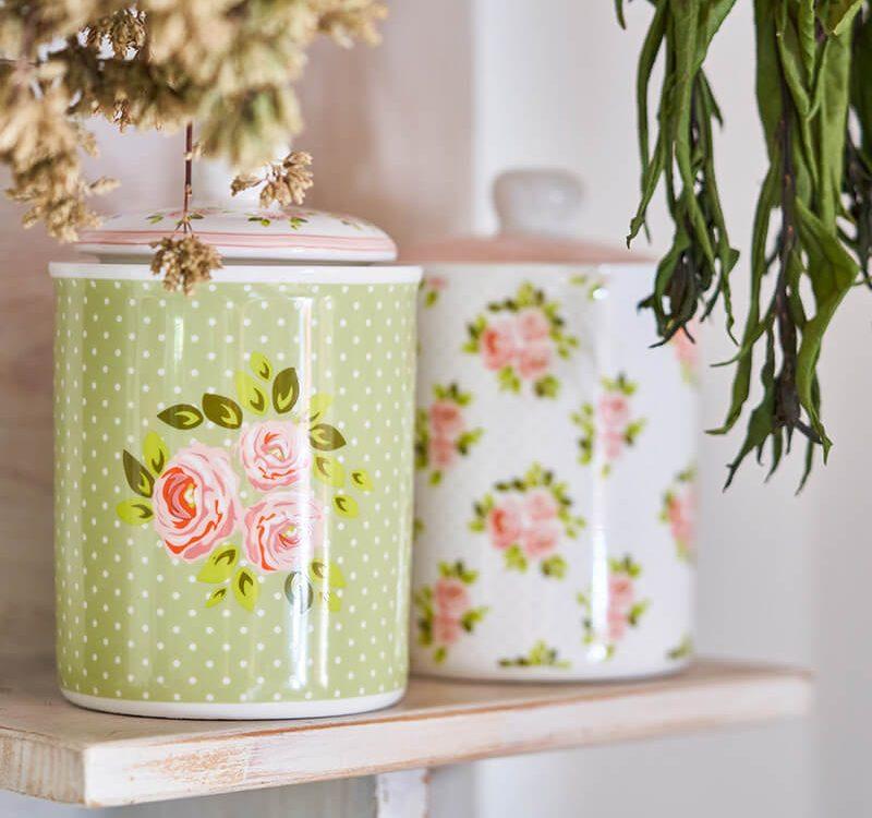 Pasqualetti Home Decor Portapane in Ceramica Bianco con Coperchio